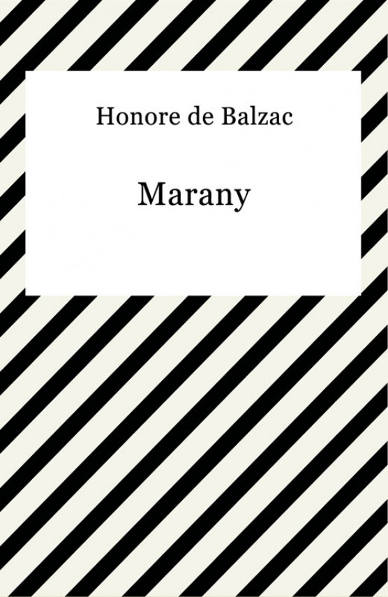 Marany (ebook) –	Honore De Balzac