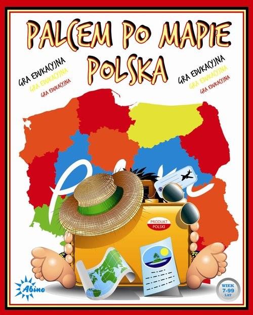 okładka Palcem po mapie Polska, Książka  