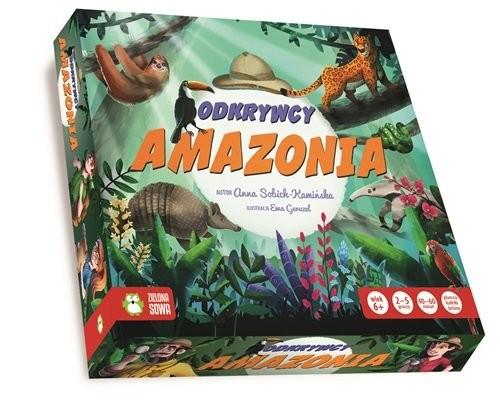 okładka Odkrywcy Amazonia, Książka | Sobich-Kamińska Anna