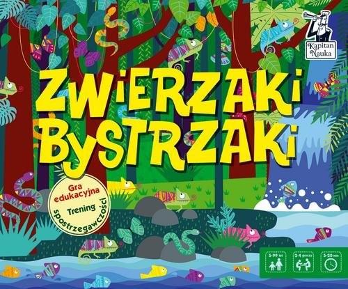 okładka Gra edukacyjna Zwierzaki bystrzaki, Książka |