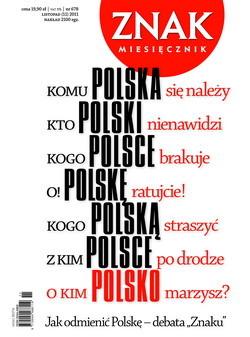 okładka Miesięcznik Znak, numer 678 (listopad 2011), Książka |