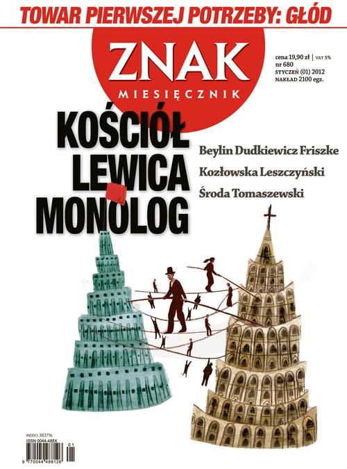 okładka Miesięcznik Znak, numer 680 (styczeń 2012), Książka |