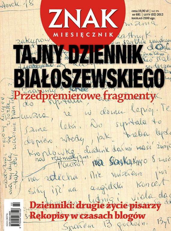 okładka Miesięcznik Znak, numer 681 (luty 2012), Książka |