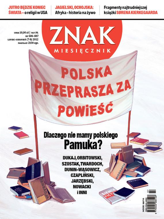 okładka Miesięcznik Znak, numer 686-687 (lipiec-sierpień 2012), Książka |