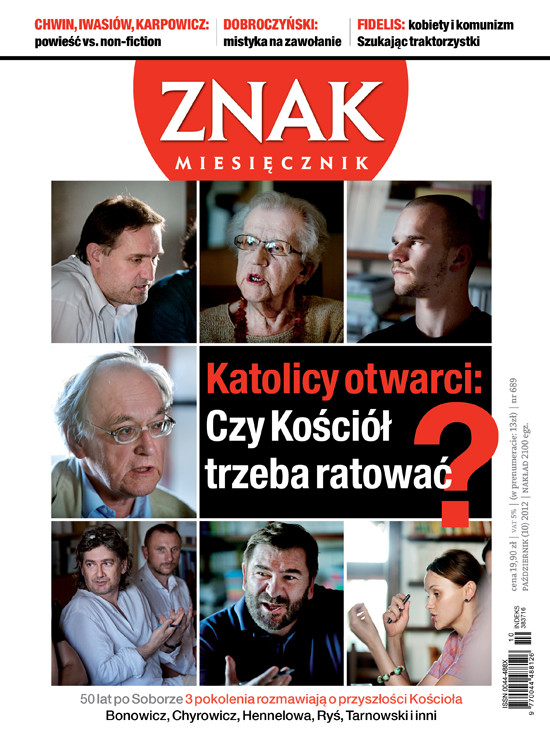 okładka Miesięcznik Znak, numer 689 (październik 2012), Książka |