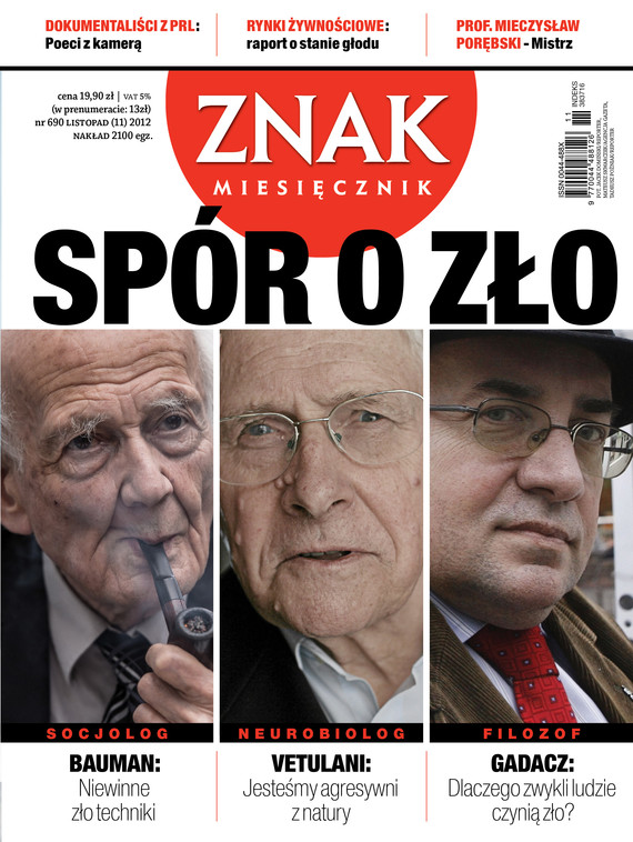 okładka Miesięcznik Znak, numer 690 (listopad 2012), Książka |