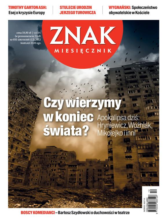 okładka Miesięcznik Znak, numer 691 (grudzień 2012), Książka |