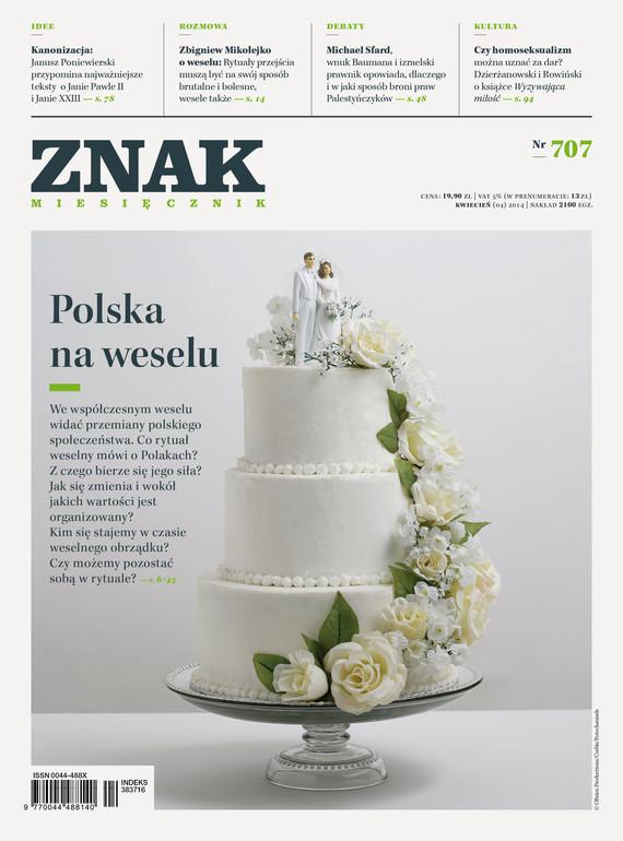 """okładka Miesięcznik """"ZNAK"""", kwiecień 2014, nr 707, Książka  """