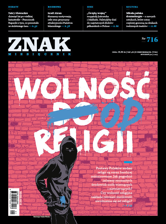 """okładka Miesięcznik """"ZNAK"""", styczeń 2015, nr 716książka     """