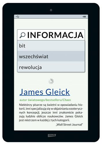 okładka Informacja. Bit, wszechświat, rewolucja, Książka | James Gleick