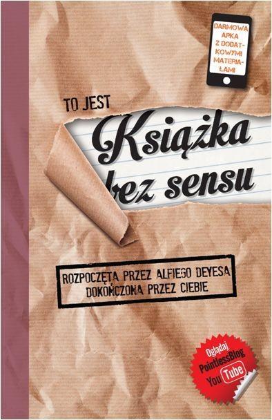 okładka Książka bez sensu, Książka | Deyes Alfie