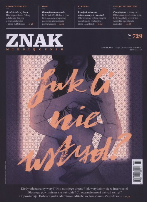 """okładka Miesięcznik """"Znak"""", luty 2016, nr 729książka     """