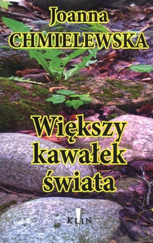 okładka Większy kawałek świata, Książka   Chmielewska Joanna