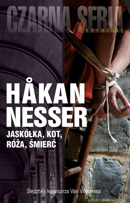 okładka Jaskółka, kot, róża, śmierć, Książka | Håkan Nesser