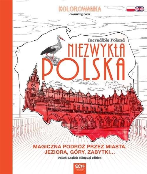 okładka Niezwykła Polska. Kolorowanka, Książka   Opracowanie zbiorowe