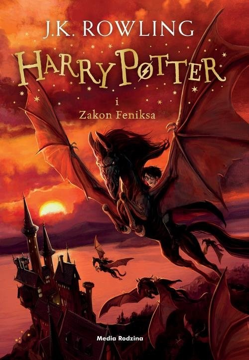 okładka Harry Potter i Zakon Feniksa. KsiążkaK. Rowling Joanne