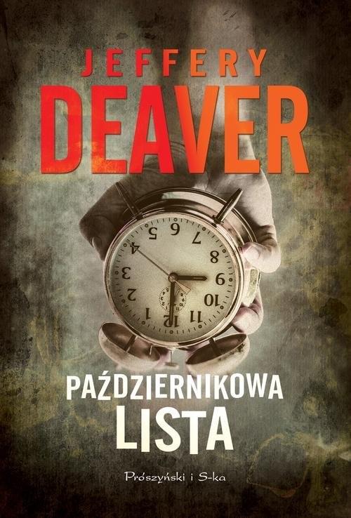 okładka Październikowa lista, Książka | Jeffery Deaver
