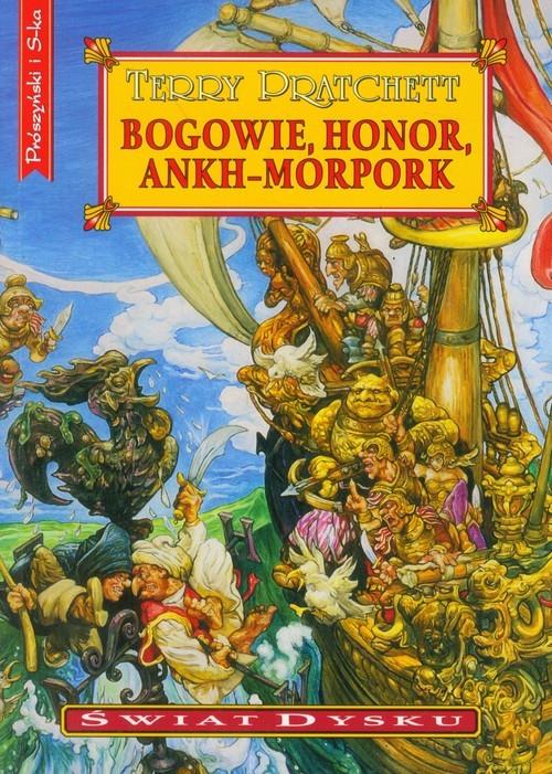 okładka Bogowie, honor, Ankh-Morpork, Książka | Terry Pratchett