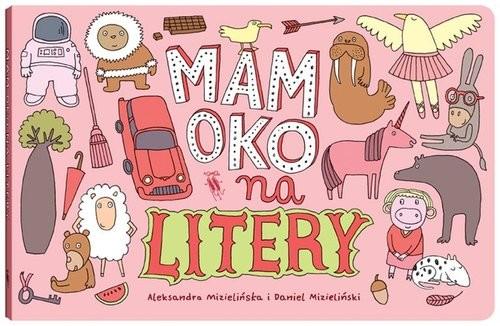 okładka Mam oko na litery, Książka | Aleksandra Mizielińska, Daniel Mizieliński