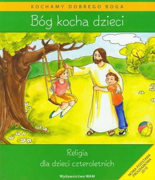 okładka Katechizm dla 4-latków Bóg Kocha Dzieci + CD, Książka   Kubik Władysław