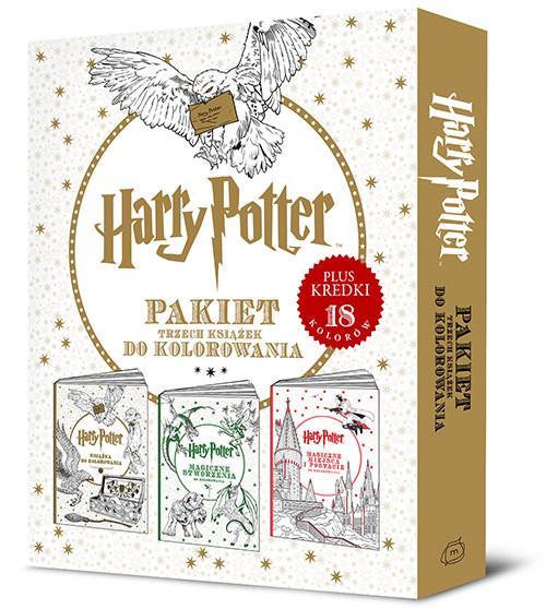 okładka Harry Potter. Pakiet trzech książek do kolorowania, Książka | Opracowanie zbiorowe
