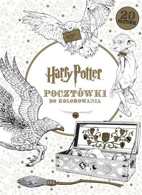 okładka Harry Potter. Pocztówki do kolorowania, Książka | Opracowanie zbiorowe