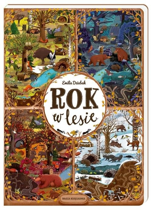 okładka Rok w lesie, Książka | Dziubak Emilia
