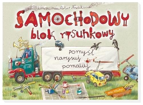 okładka Samochodowy blok rysunkowy, Książka   Nowicki Artur