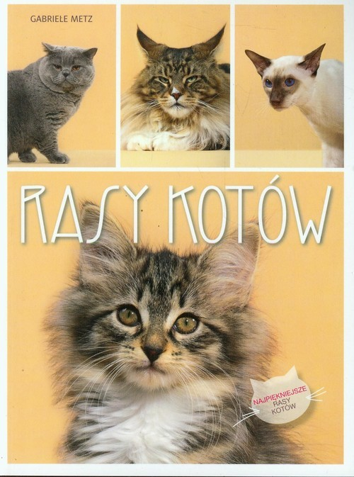 okładka Rasy kotów, Książka | Metz Gabriele