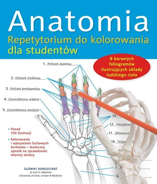 okładka Anatomia. Repetytorium do kolorowania dla studentów, Książka | Praca Zbiorowa