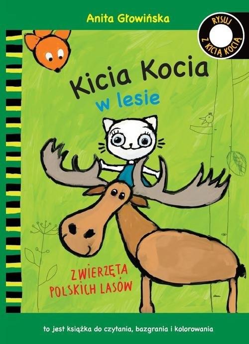 okładka Kicia Kocia w lesie. Zwierzęta polskich lasów. Kolorowankaksiążka |  | Głowińska Anita