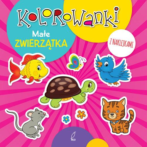 okładka Kolorowanki z naklejkami. Małe zwierzątka, Książka |