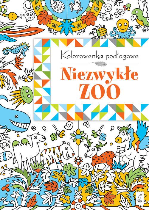 okładka Kolorowanka podłogowa. Niezwykłe ZOO, Książka |