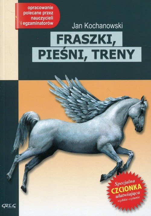 okładka Fraszki, pieśni, treny Lektura z opracowaniemksiążka |  | Kochanowski Jan