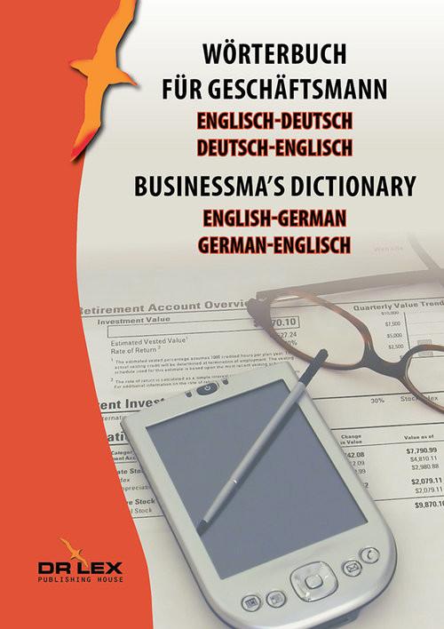 okładka Businessma's dictionary english-german german-english Wörterbuch für Geschäftsmann Englisch-Deutsch, Deutsch-Englisch, Książka | Piotr Kapusta
