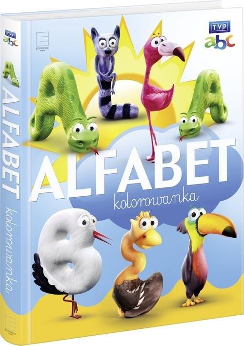 okładka Alfabet kolorowanka, Książka |