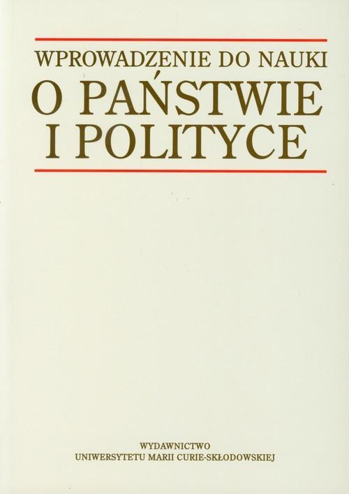okładka Wprowadzenie do nauki o państwie i polityce, Książka |