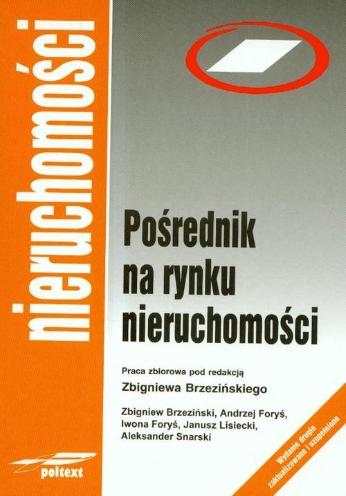 okładka Pośrednik na rynku nieruchomości, Książka |