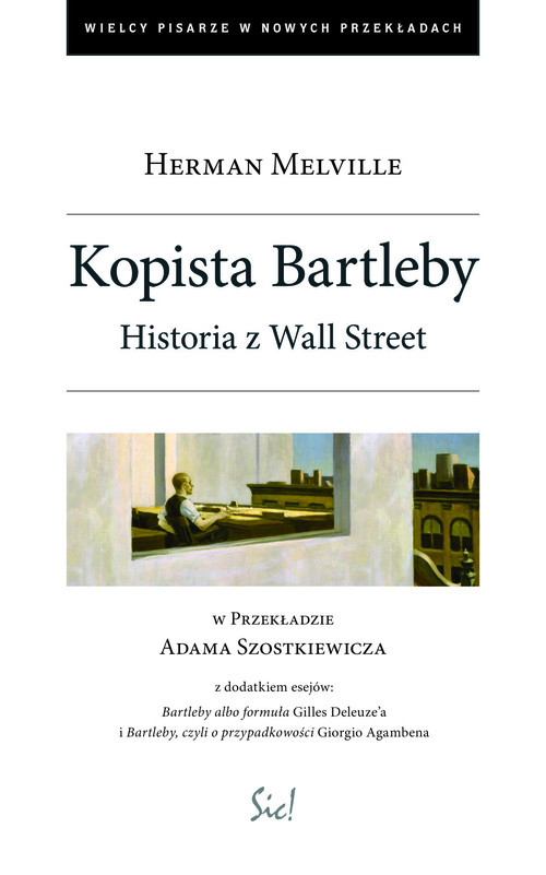 okładka Kopista Bartleby Historia z Wall Streat, Książka | Herman Melville