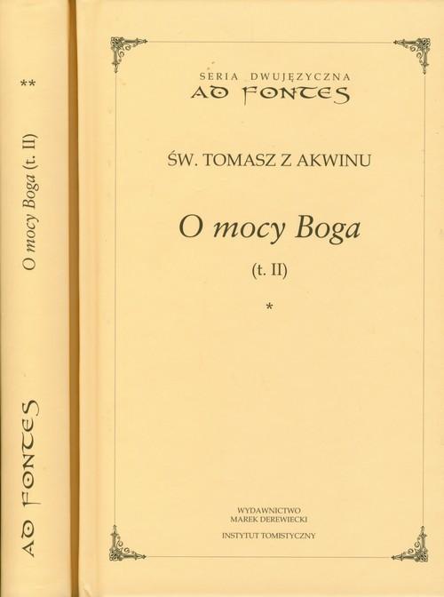 okładka O mocy Boga Tom 2 część 1-2 seria dwujęzyczna, Książka | z Akwinu Tomasz