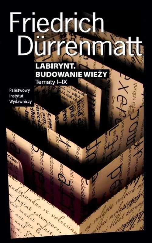 okładka Labirynt Budowanie wieży Tematy I-IX, Książka | Durrenmatt Friedrich