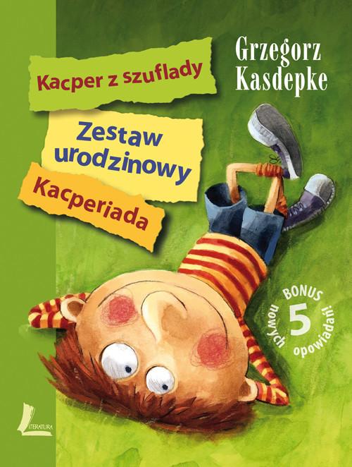 okładka Zestaw urodzinowy Kacper z szuflady Kacperiada, Książka | Kasdepke Grzegorz