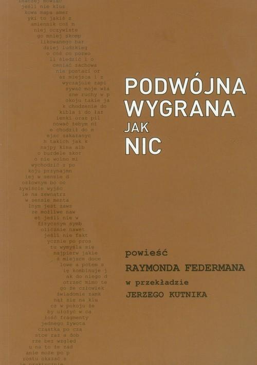 okładka Podwójna wygrana jak nic, Książka | Federman Raymond