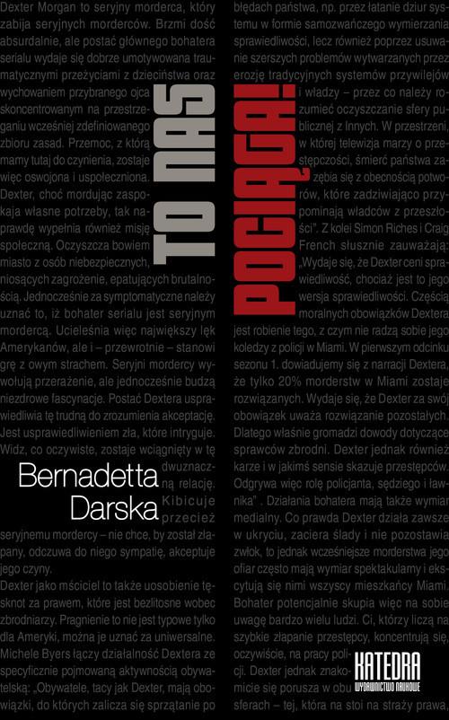 okładka To nas pociąga! O serialowych antybohaterach, Książka   Darska Bernadetta