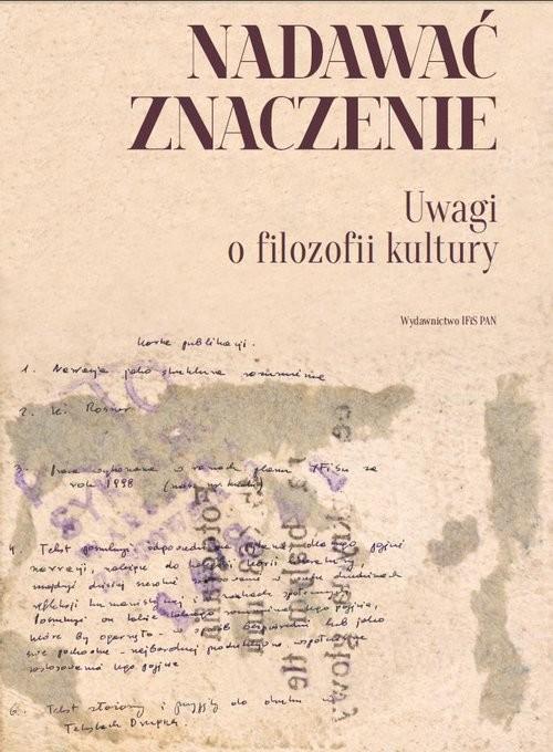 okładka Nadawać znaczenie Uwagi o filozofii kultury, Książka |