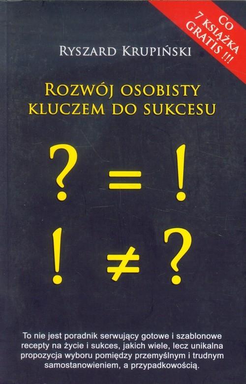 okładka Rozwój osobisty kluczem do sukcesu, Książka | Krupiński Ryszard