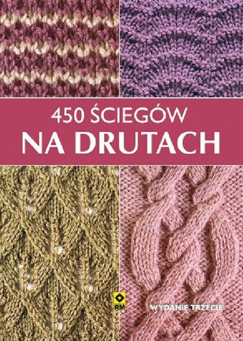 okładka 450 ściegów na drutach, Książka |