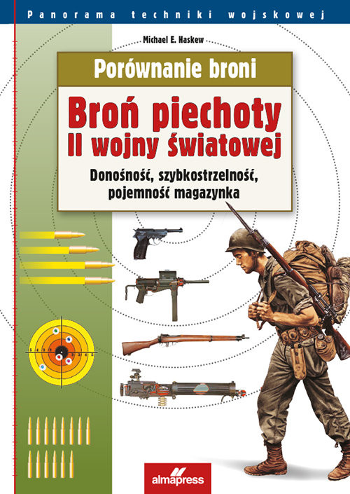 okładka Porównanie broni Broń piechoty II wojny światowej Donośność, szybkostrzelność, pojemność magazynka, Książka | Michael E. Haskew