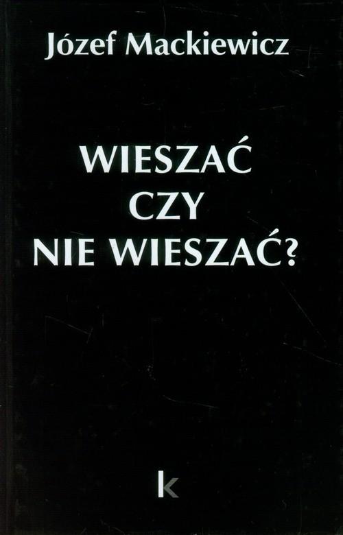 okładka Wieszać czy nie wieszać? Artykuły z 1950-1959, Książka   Mackiewicz Józef