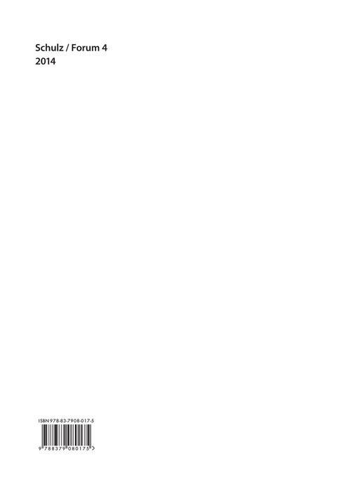 okładka Schulz Forum 4, Książka | Praca Zbiorowa